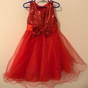 Other - Bright Red Girls Party Dress *6/7*